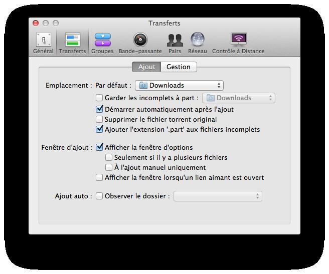 transmission mac gestion de fichiers
