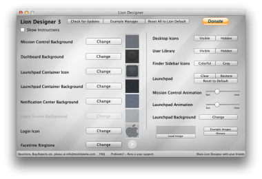 Lion Designer mac