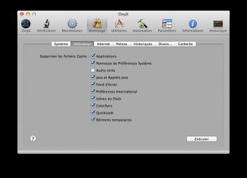Meilleurs logiciels de nettoyage Mac - Onyx Mac OS X