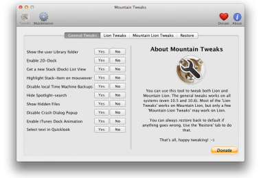 Mountain Tweak