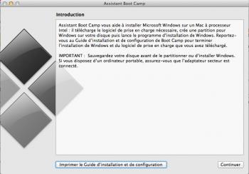 installer Windows 8 sur Mac assistant boot camp