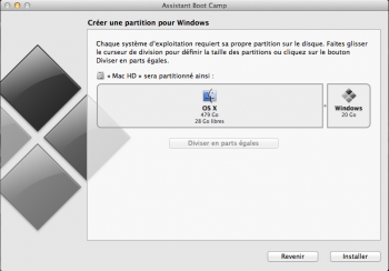 installer Windows 8 sur Mac partition