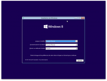 installer Windows 8 sur Mac l'installation classique