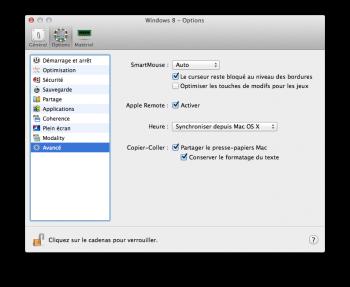 Parallels Desktop 10 reglages