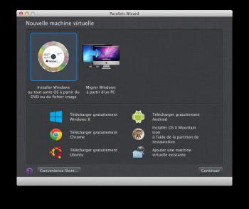 Parallels Desktop 10 machine virtuelle