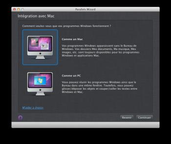 Parallels Desktop 10 intégration mac