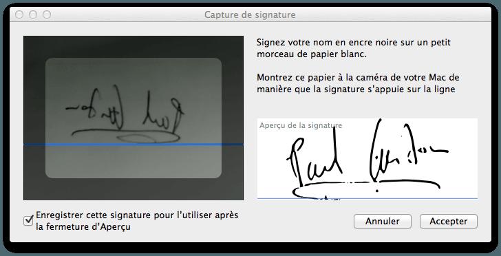 créer une signature électronique manuscrite mac