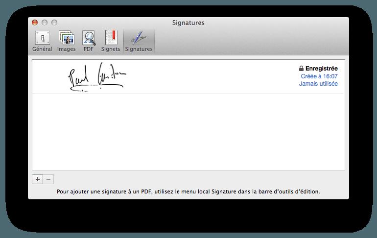créer une signature électronique enregistrer
