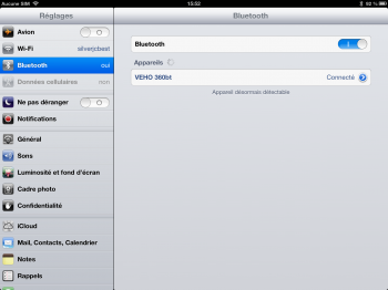 Veho bluetooth iPad