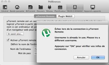 utorrent remote utilisateur