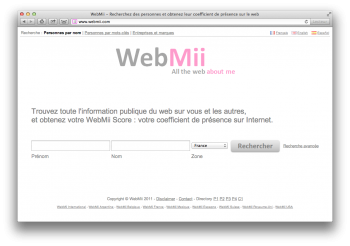 Webmii reputation sur Internet