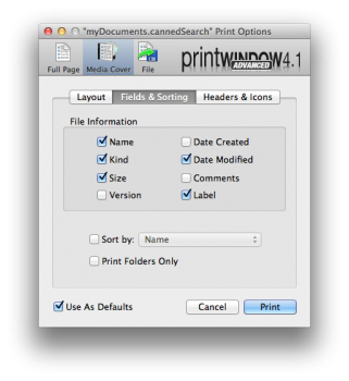 print windows mac os x