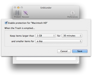 unblunder mac configuration