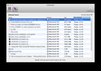 unblunder recuperation de fichiers mac