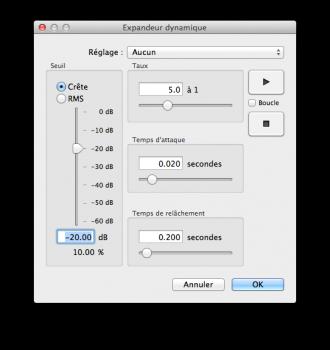 expander audio
