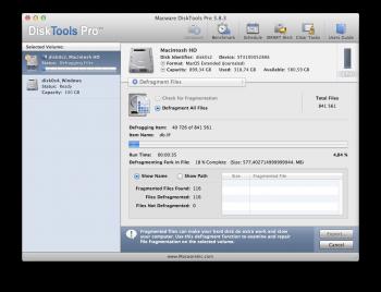 DiskTools Pro app defragmentation mac