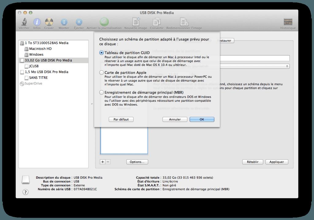 Créer un disque USB Bootable de MAC OS X Mavericks cle usb bootable mavericks