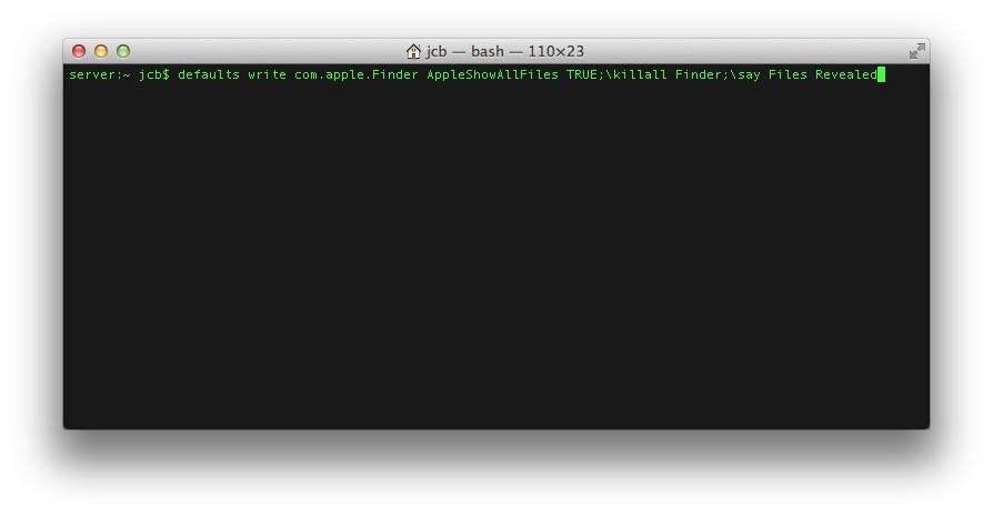 Créer un disque USB Bootable de MAC OS X Mavericks mavericks afficher fichiers caches