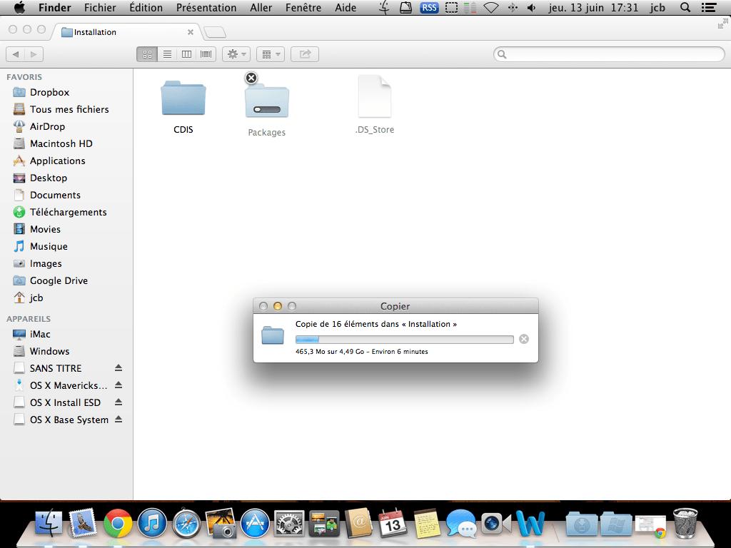 Créer un disque USB Bootable de MAC OS X Mavericks copy