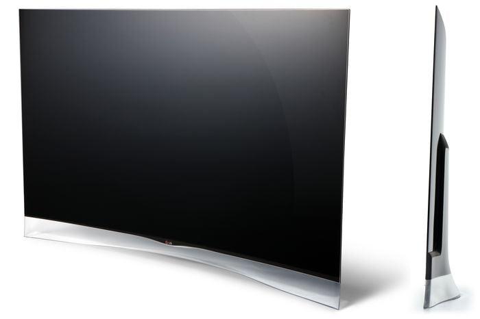 lg 55ea9800 la tv oled incurv e d barque en europe lemagtechno. Black Bedroom Furniture Sets. Home Design Ideas