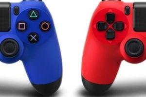 dualshock 4 red blue