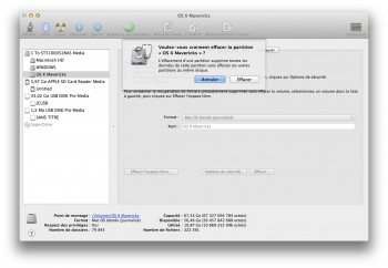 effacement partition mac
