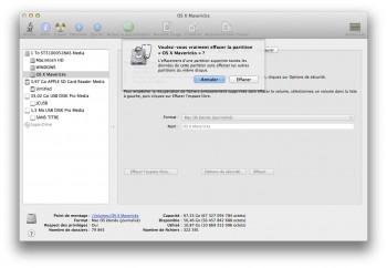 effacement partition mac