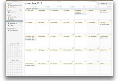 calendrier iphone ajouter fêtes