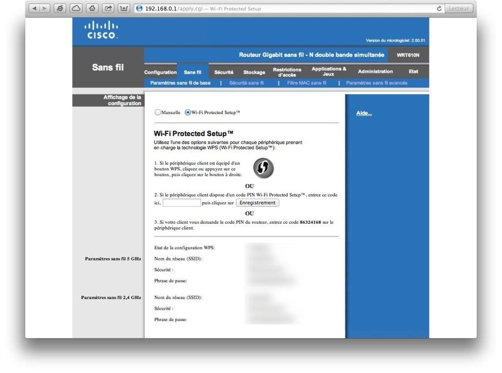 cracker un reseau Wi-Fi WPA desactiver wps