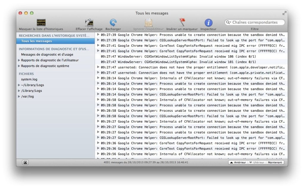 Accélérer Mavericks Console Mavericks