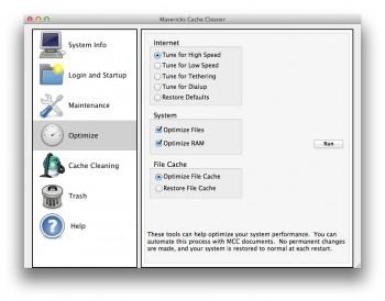 Optimisation mavericks cache ram fichiers