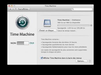 Time Machine sauvegarde