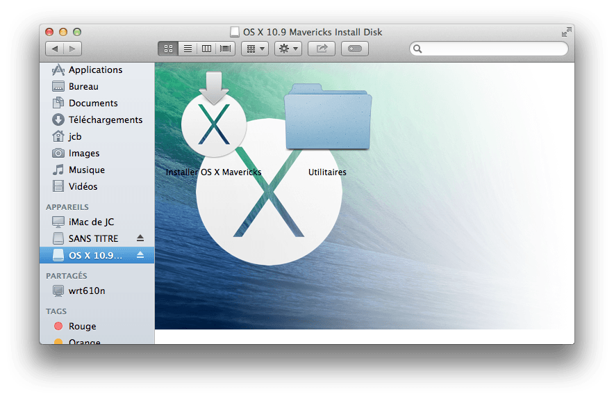 Installer Mavericks cle usb mavericks montage
