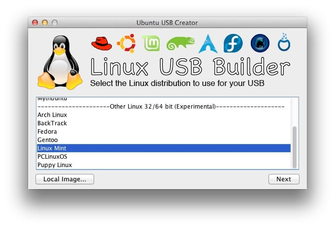 creer une cle USB bootable Linux sur mac 01