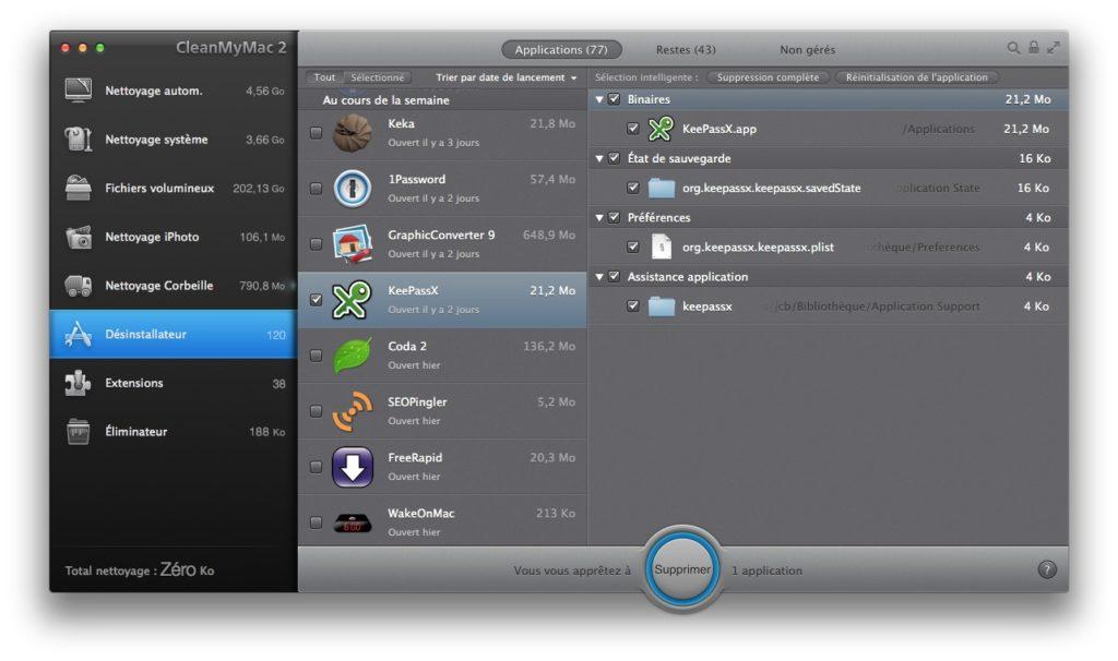 desinstallation propre apps sur mac
