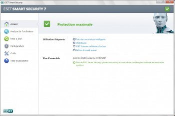 eset smart security 7 accueil