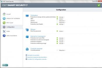 eset smart security 7 configuration basique