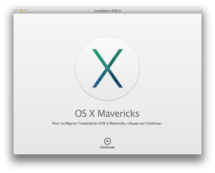 installer Mavericks procedure installation mavericks