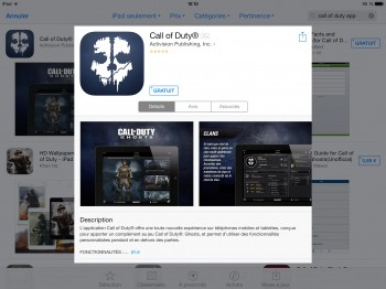 Call of Duty app ios android