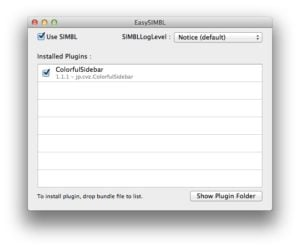 Ajouter des couleurs au Finder de Mavericks EasySIMBL installation mavericks