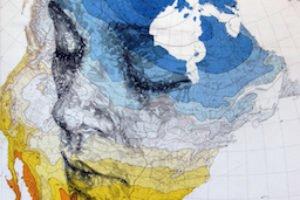 Ed Fairburn portraits on map