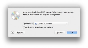 Graver avec le Finder mavericks