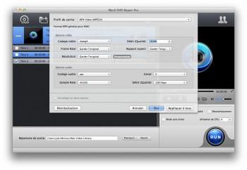 MacX DVD Ripper Pro encodage