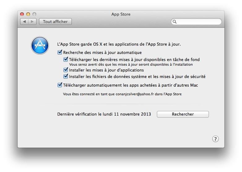 installer automatiquement les mises à jour sous Mavericks app store auto updates mavericks