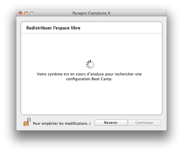 redimensionner une partition Mac ou Windows camptune partition boot camp