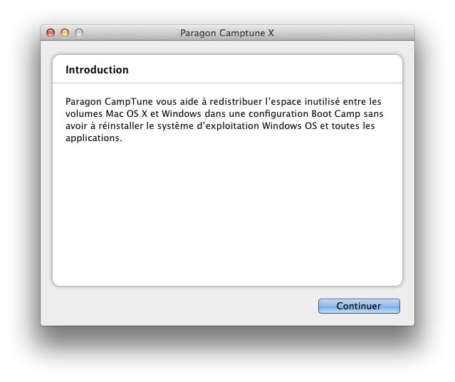 redimensionner une partition Mac ou Windows camptune x tuto