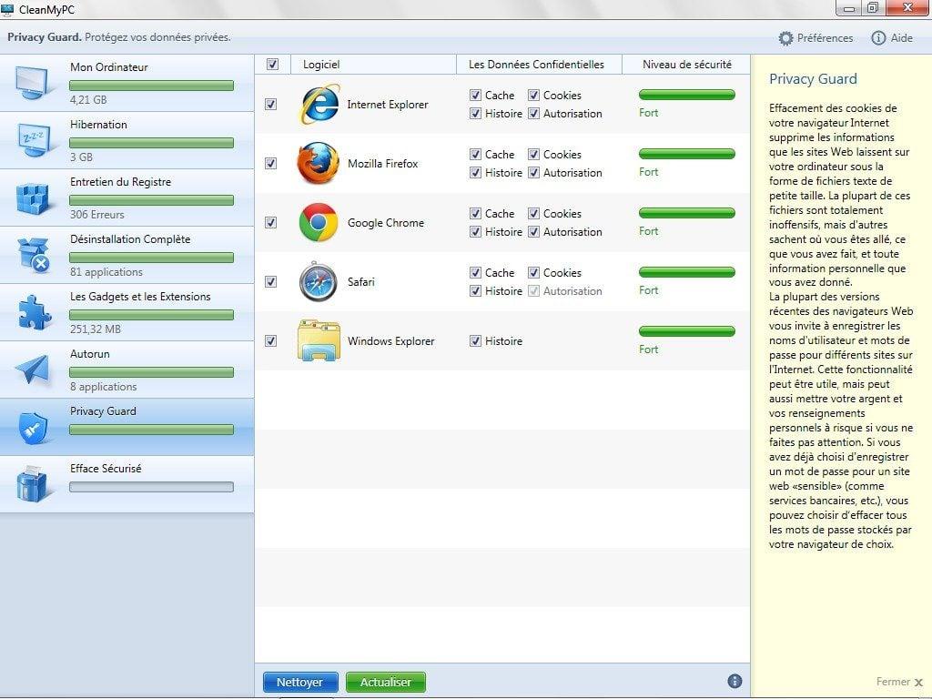 nettoyer windows nettoyer navigateur windows 8