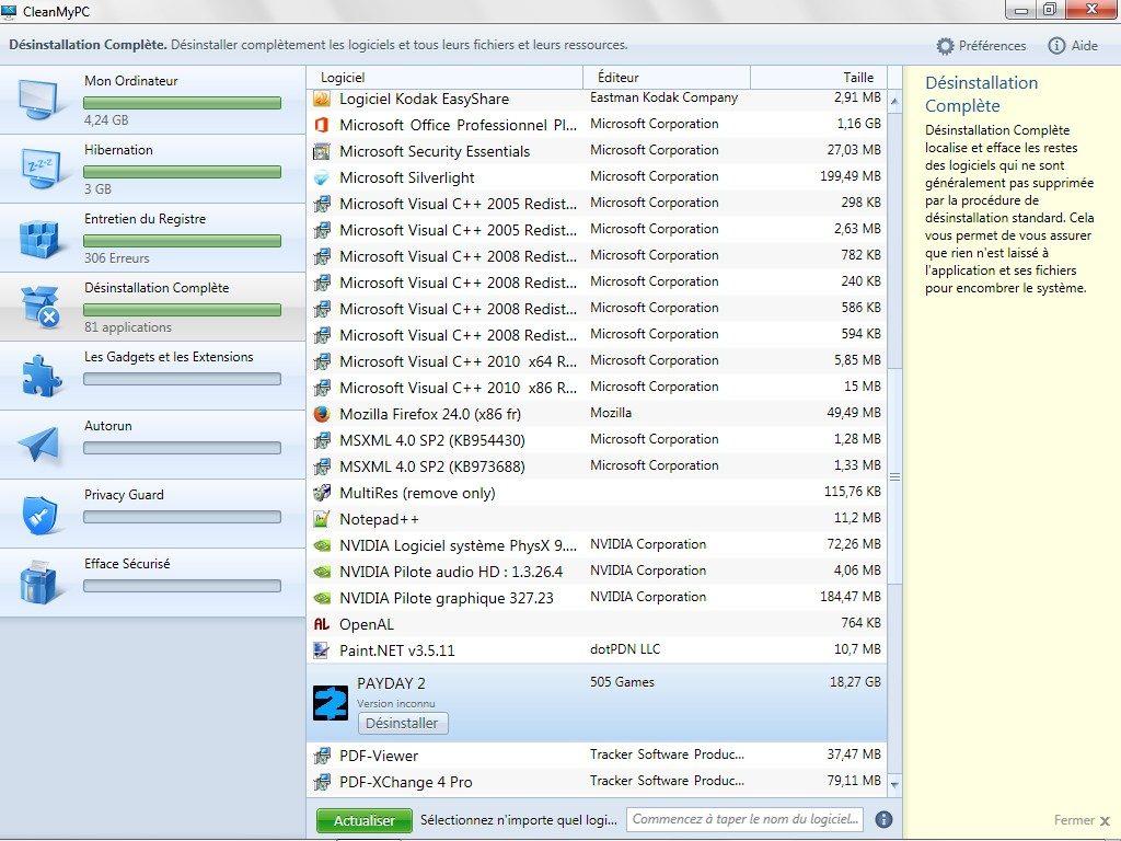 nettoyer windows windows 8 supprimer app