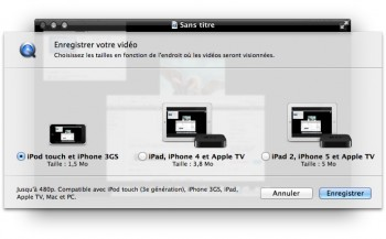 exporter capture ecran vers apple tv