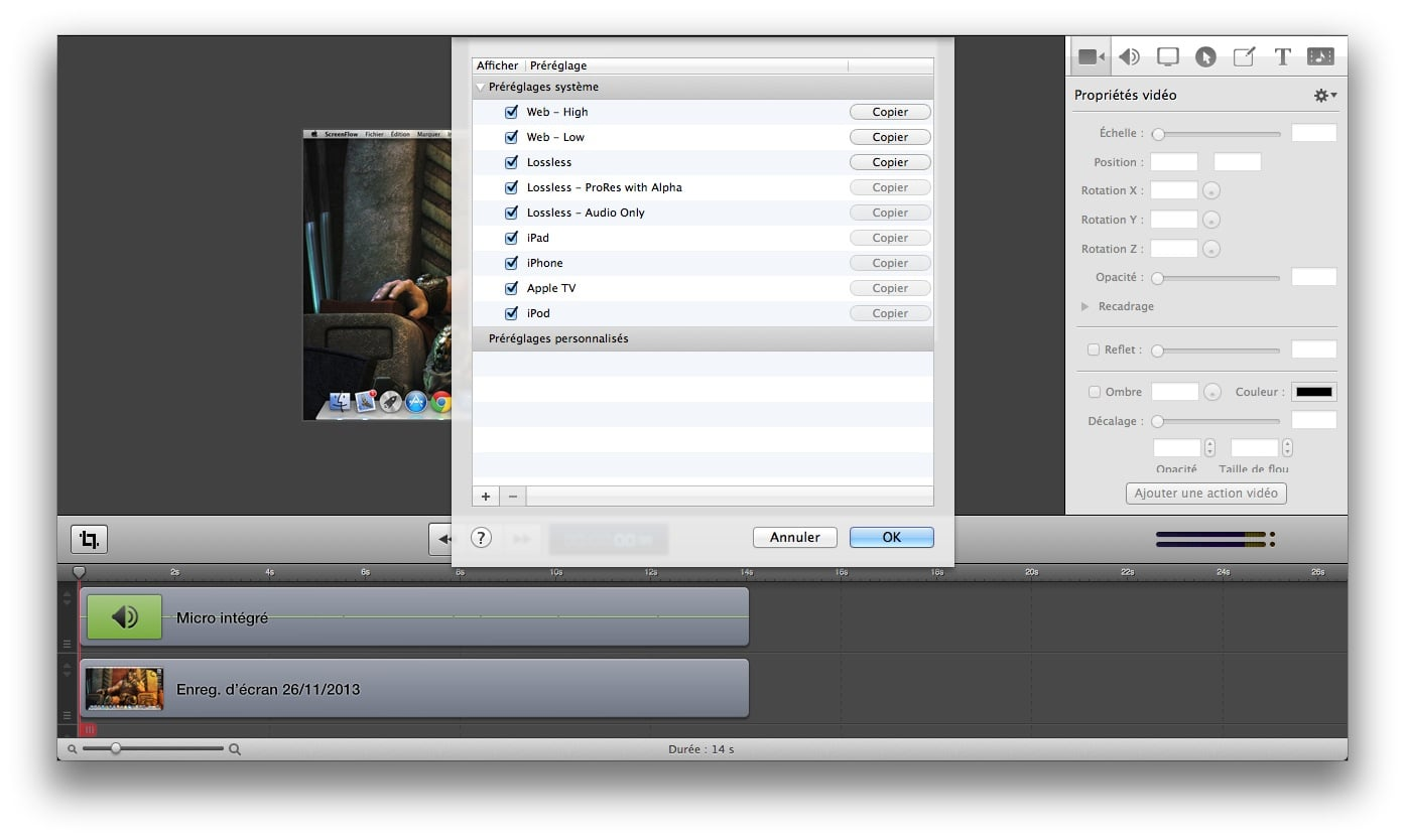 Comment faire une capture cran vid o sous mavericks os x for Capture 2cran
